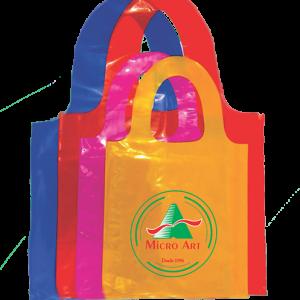 sacola alça cadeado colorida