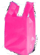 sacola alça camiseta baixa densidade rosa