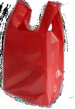 sacola alça camiseta baixa densidade vermelha