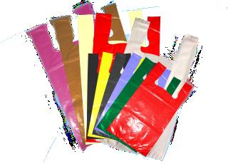 sacola alça camiseta baixa densidade cores